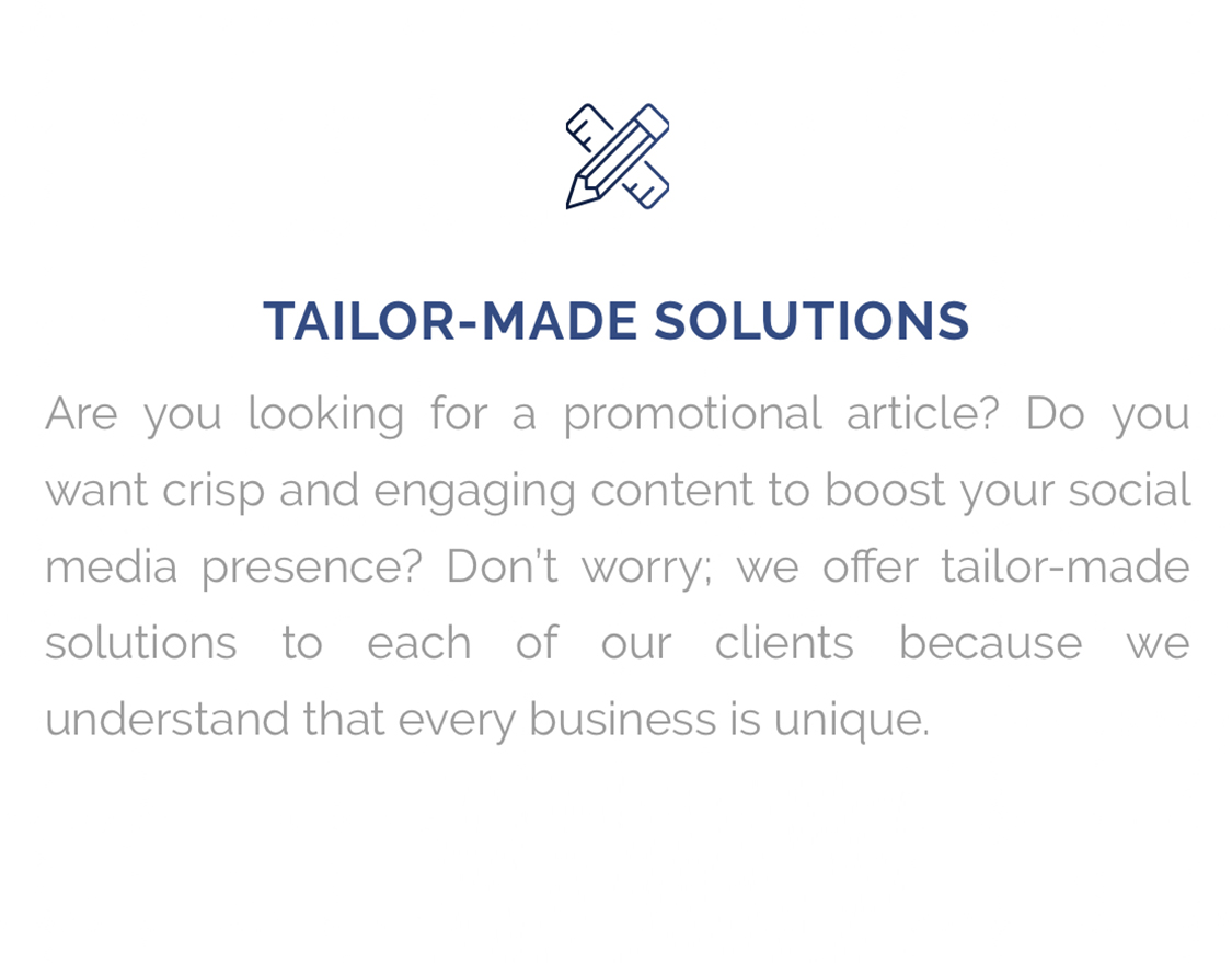Tailor Made Solutions