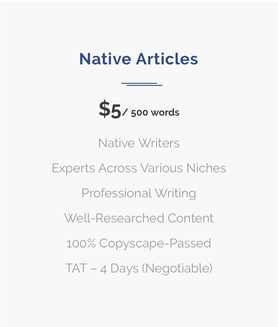 Native Articles